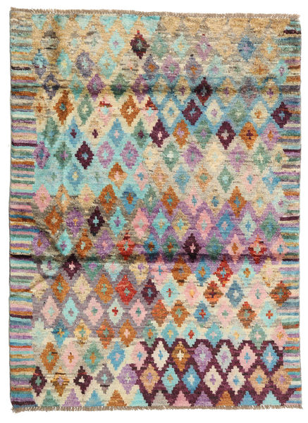 Barchi/Moroccan Berber - Afganistan Rug 127X171 Authentic  Modern Handknotted Dark Beige/Dark Grey (Wool, Afghanistan)