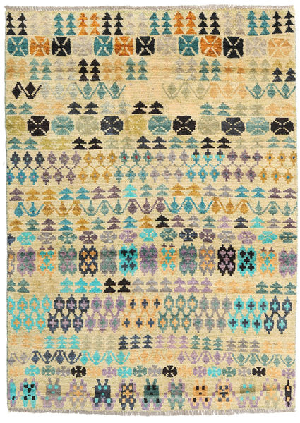 Barchi/Moroccan Berber - Afganistan Rug 124X173 Authentic  Modern Handknotted Yellow/Beige (Wool, Afghanistan)