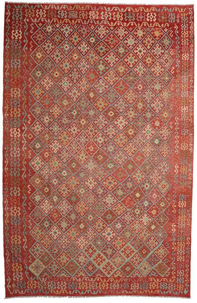Kilim Afghan Old Style Rug 314X487 Authentic  Oriental Handwoven Dark Red/Brown Large (Wool, Afghanistan)