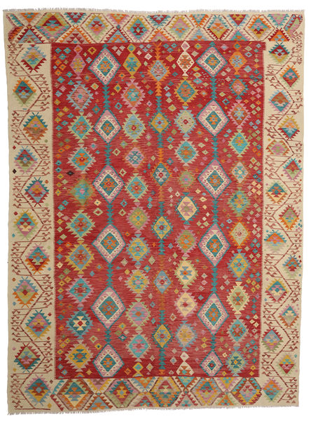 Kilim Afghan Old Style Rug 295X397 Authentic  Oriental Handwoven Dark Red/Light Brown Large (Wool, Afghanistan)
