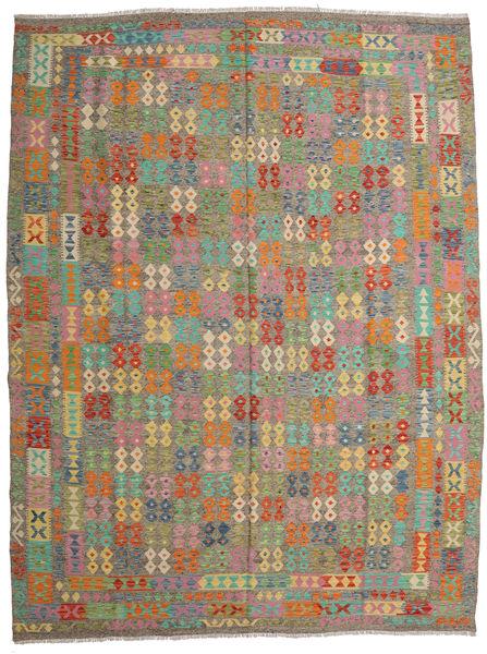 Kilim Afghan Old Style Rug 300X398 Authentic  Oriental Handwoven Light Brown/Dark Grey Large (Wool, Afghanistan)