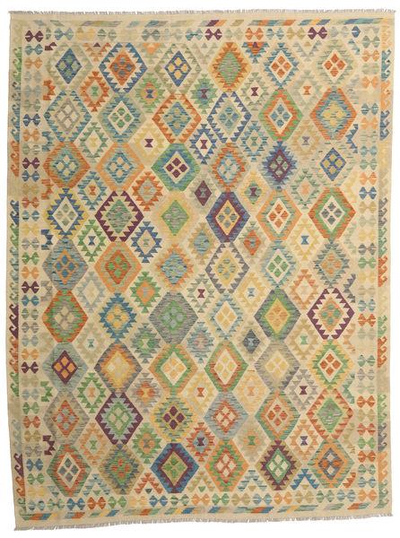Kilim Afghan Old Style Rug 257X344 Authentic  Oriental Handwoven Dark Beige/Light Brown Large (Wool, Afghanistan)