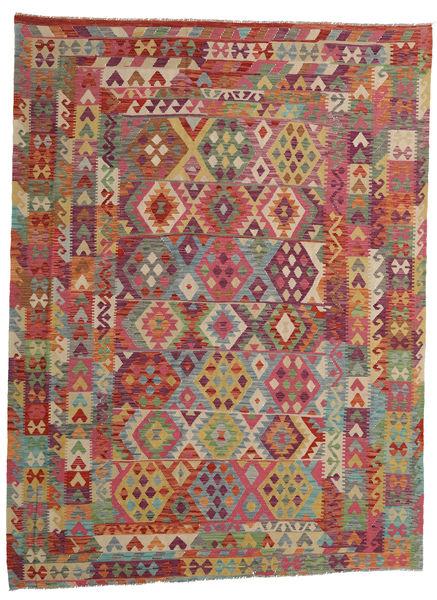 Kilim Afghan Old Style Rug 253X333 Authentic  Oriental Handwoven Brown/Dark Grey Large (Wool, Afghanistan)
