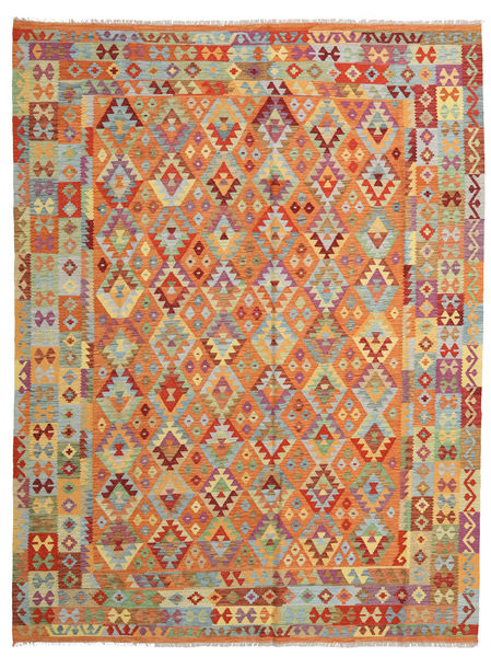 Kilim Afghan Old Style Rug 263X344 Authentic  Oriental Handwoven Orange/Light Brown Large (Wool, Afghanistan)