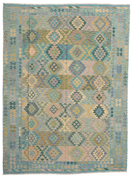 Kilim Afghan Old Style Rug 263X353 Authentic  Oriental Handwoven Light Grey/Light Brown Large (Wool, Afghanistan)