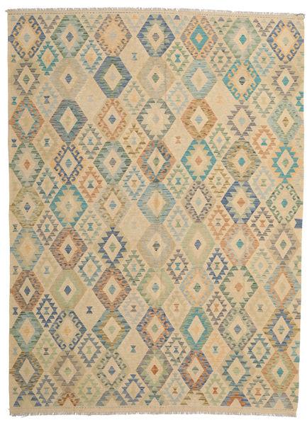 Kilim Afghan Old Style Rug 252X345 Authentic  Oriental Handwoven Dark Beige/Light Brown Large (Wool, Afghanistan)
