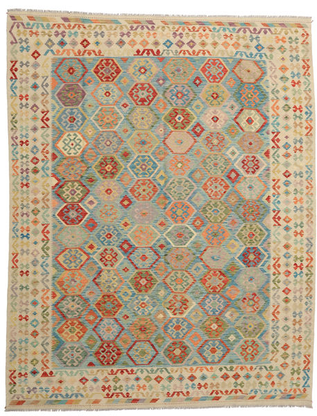 Kilim Afghan Old Style Rug 280X359 Authentic  Oriental Handwoven Light Grey/Light Brown Large (Wool, Afghanistan)