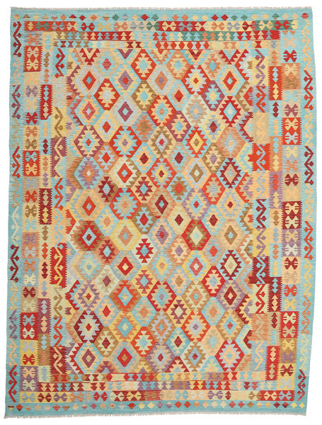 Kilim Afghan Old Style Rug 265X347 Authentic  Oriental Handwoven Dark Beige/Brown Large (Wool, Afghanistan)