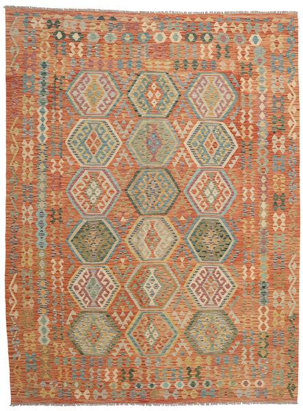 Kilim Afghan Old Style Rug 265X352 Authentic  Oriental Handwoven Light Brown/Dark Grey Large (Wool, Afghanistan)