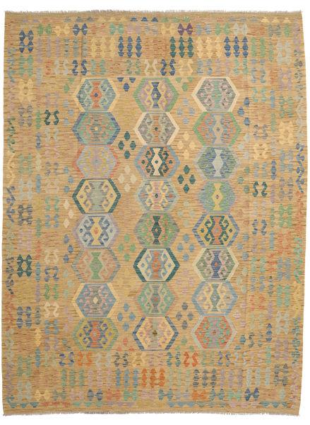 Kilim Afghan Old Style Rug 257X338 Authentic  Oriental Handwoven Light Brown Large (Wool, Afghanistan)