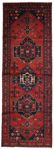 Hamadan Matto 96X280 Itämainen Käsinsolmittu Käytävämatto Tummanpunainen (Villa, Persia/Iran)
