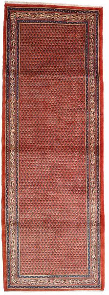 Sarouk Mir Rug 112X318 Authentic  Oriental Handknotted Hallway Runner  Rust Red/Brown (Wool, Persia/Iran)