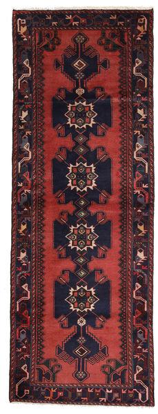 Asadabad Matto 107X296 Itämainen Käsinsolmittu Käytävämatto Tummanpunainen/Tummansininen (Villa, Persia/Iran)