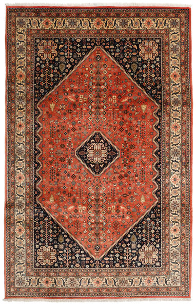 Abadeh Rug 198X308 Authentic  Oriental Handknotted Light Brown/Dark Red (Wool, Persia/Iran)