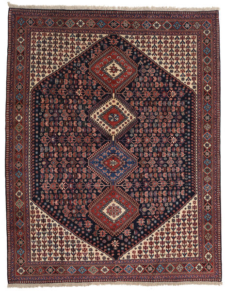 Yalameh Rug 200X258 Authentic  Oriental Handknotted Dark Red/Dark Grey (Wool, Persia/Iran)