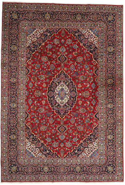 Keshan Matto 242X355 Itämainen Käsinsolmittu Tummanpunainen/Tummanruskea (Villa, Persia/Iran)