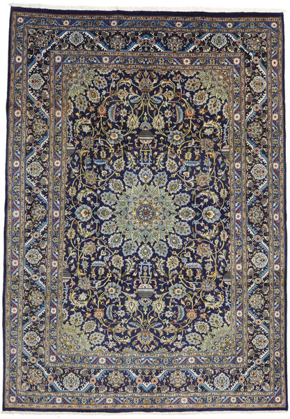 Mashad Rug 235X335 Authentic  Oriental Handknotted Light Grey/Dark Purple (Wool, Persia/Iran)