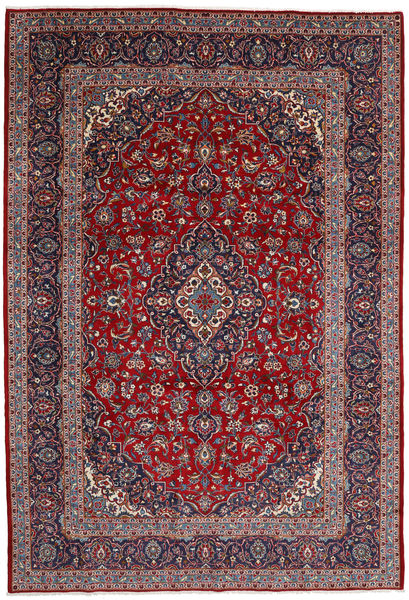 Keshan Rug 245X359 Authentic  Oriental Handknotted Dark Purple/Brown (Wool, Persia/Iran)