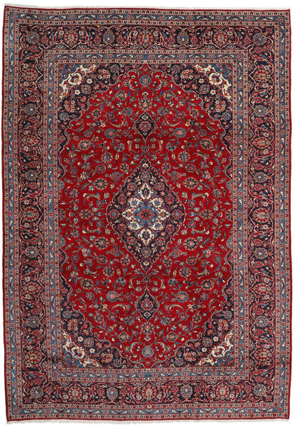 Keshan Rug 251X363 Authentic  Oriental Handknotted Dark Red/Dark Brown Large (Wool, Persia/Iran)