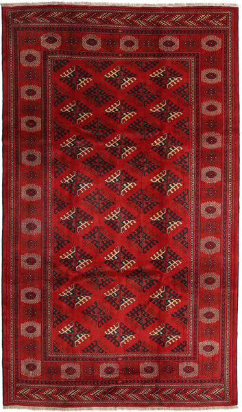 Turkaman Rug 214X358 Authentic  Oriental Handknotted Dark Red/Rust Red/Crimson Red (Wool, Persia/Iran)
