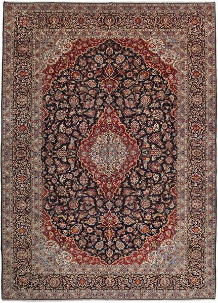 Keshan Rug 302X419 Authentic  Oriental Handknotted Light Brown/Black Large (Wool, Persia/Iran)