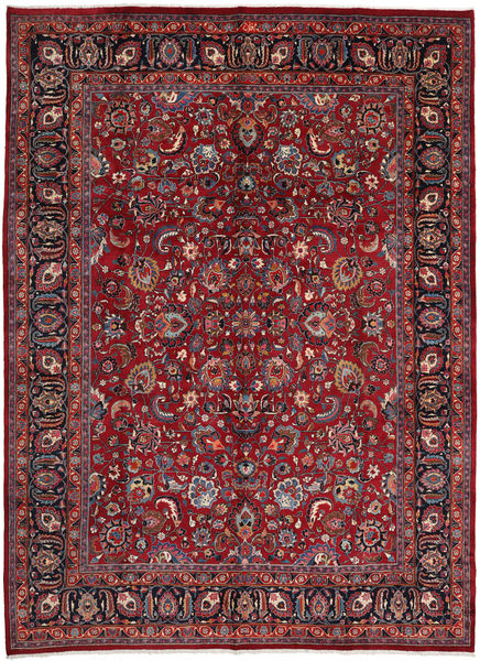 Mashad Matto 295X402 Itämainen Käsinsolmittu Tummanpunainen/Punainen Isot (Villa, Persia/Iran)