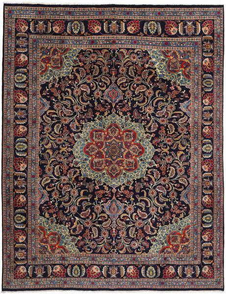Mashad Teppe 294X382 Ekte Orientalsk Håndknyttet Mørk Lilla/Brun Stort (Ull, Persia/Iran)