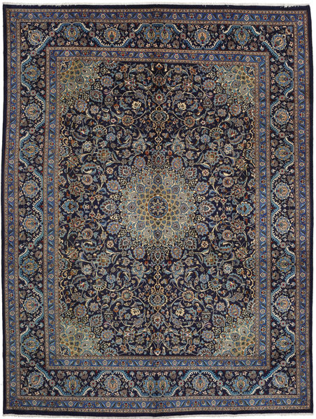 Mashad Rug 293X392 Authentic  Oriental Handknotted Light Brown/Dark Grey/Dark Purple Large (Wool, Persia/Iran)