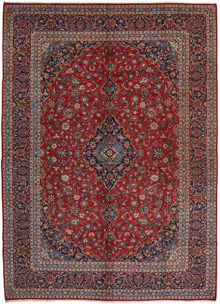 Keshan Rug 297X407 Authentic  Oriental Handknotted Dark Red/Light Brown Large (Wool, Persia/Iran)