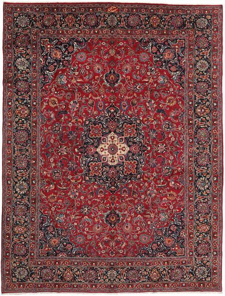 Mashad Rug 296X394 Authentic  Oriental Handknotted Dark Red/Dark Grey Large (Wool, Persia/Iran)