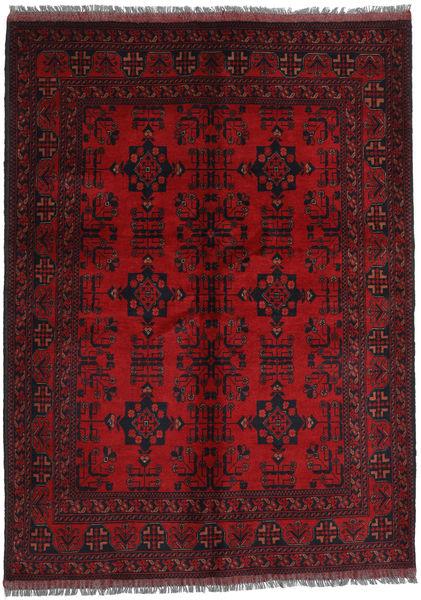 Afghan Khal Mohammadi Rug 143X197 Authentic  Oriental Handknotted Dark Red/Dark Brown (Wool, Afghanistan)