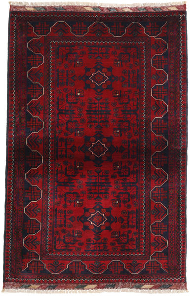 Afghan Khal Mohammadi Rug 95X146 Authentic  Oriental Handknotted Dark Red/Crimson Red (Wool, Afghanistan)