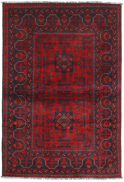Afghan Khal Mohammadi Tapis 102X151 D'orient Fait Main Rouge Foncé/Violet Foncé (Laine, Afghanistan)