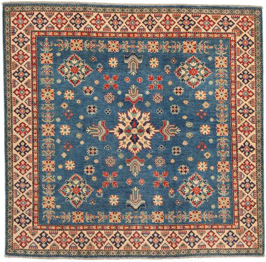 Kazak Rug 197X204 Authentic  Oriental Handknotted Square Dark Blue/Brown (Wool, Pakistan)