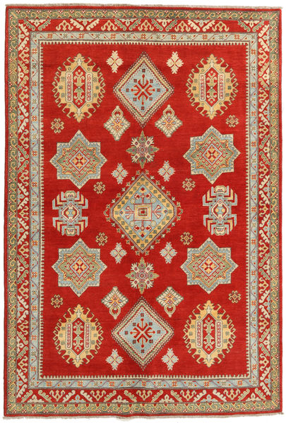 Kazak Rug 166X247 Authentic  Oriental Handknotted Rust Red/Light Brown (Wool, Pakistan)