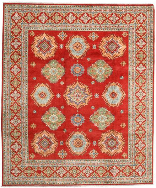 Kazak Rug 248X299 Authentic  Oriental Handknotted Rust Red/Dark Beige (Wool, Pakistan)