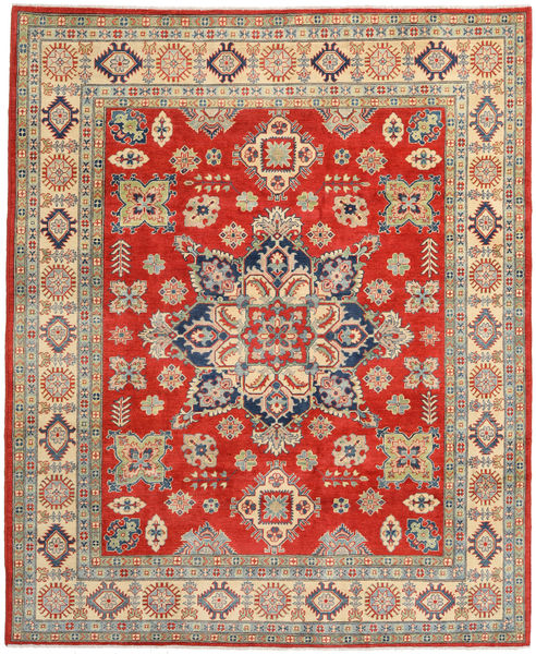 Kazak Rug 250X305 Authentic  Oriental Handknotted Dark Grey/Rust Red Large (Wool, Pakistan)