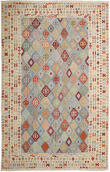 Kilim Afghan Old Style Rug 350X547 Authentic  Oriental Handwoven Light Grey/Light Brown Large (Wool, Afghanistan)