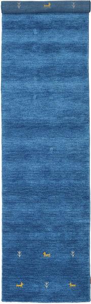 Gabbeh Loom Two Lines - Sininen Matto 80X450 Moderni Käytävämatto Sininen/Tummansininen (Villa, Intia)