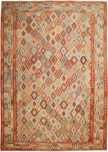 Kilim Afghan Old Style Rug 417X589 Authentic  Oriental Handwoven Light Brown/Orange Large (Wool, Afghanistan)