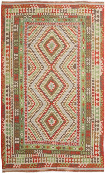 Kilim Afghan Old Style Rug 257X415 Authentic  Oriental Handwoven Brown/Light Brown Large (Wool, Afghanistan)