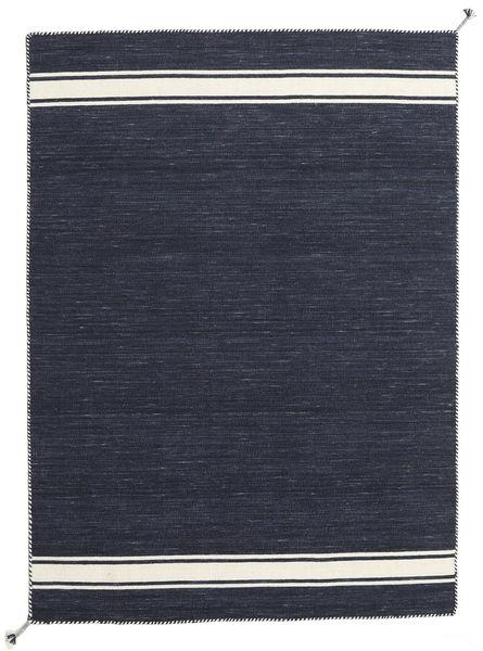 Ernst - Navy/Naturvit Matta 170X240 Äkta Modern Handvävd Mörkgrå (Ull, Indien)