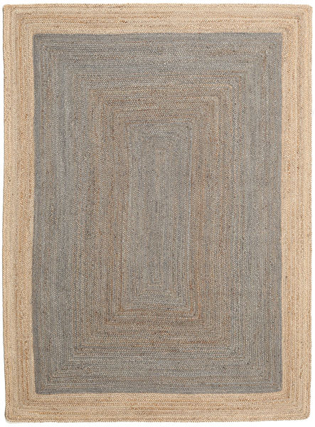 Frida Frame - Grey/Natural Rug 160X230 Authentic  Modern Handwoven Light Brown ( India)