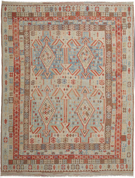 Kilim Afghan Old Style Rug 309X398 Authentic  Oriental Handwoven Light Brown/Light Grey Large (Wool, Afghanistan)