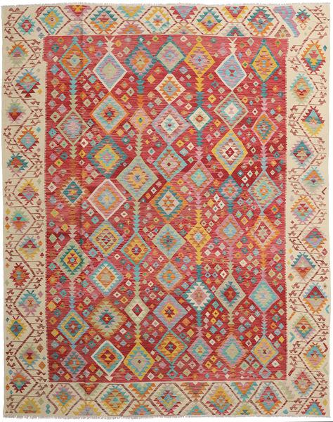 Kelim Afghan Old Style Matto 316X388 Itämainen Käsinkudottu Vaaleanruskea/Ruoste Isot (Villa, Afganistan)