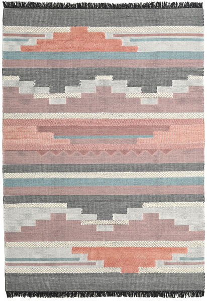 Misha Rug 200X300 Authentic  Modern Handwoven Dark Grey/Light Purple (Wool, India)