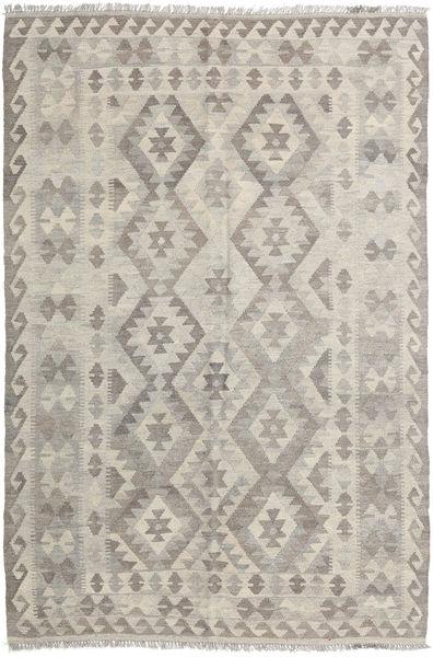 Kilim Afghan Old Style Rug 138X208 Authentic  Oriental Handwoven Light Grey/Light Brown (Wool, Afghanistan)