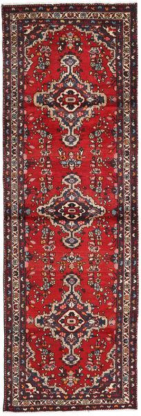 Saveh Matto 99X300 Itämainen Käsinsolmittu Käytävämatto Tummanpunainen/Tummanruskea (Villa, Persia/Iran)