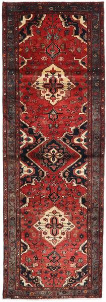 Hamadan Matto 103X309 Itämainen Käsinsolmittu Käytävämatto Tummanpunainen/Ruskea (Villa, Persia/Iran)