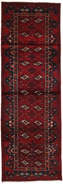 Saveh Matto 111X324 Itämainen Käsinsolmittu Käytävämatto Tummanpunainen/Tummanruskea (Villa, Persia/Iran)